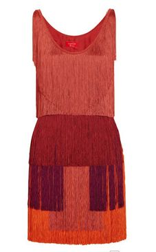 Lanvin fringed dress.