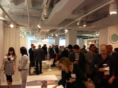 Milliken's busy showroom at NeoCon. #Chicago