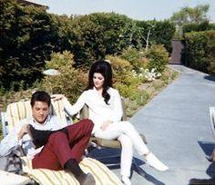 Elvis & Priscilla celebrating in Palm Springs
