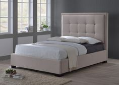 Gestoffeerd Bed Philadelphia Wit  Cm Dalani Home Living