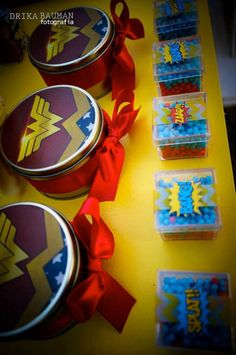 Wonder Woman themed birthday party with Lots of Really Cute Ideas via Kara's Party Ideas! full of decorating ideas, decor, desserts, cakes, favors, printables, games, and MORE! KarasPartyIdeas.com #wonderwoman #wonderwomanparty #superhero #partyideas #partydecor #partyplanning #eventstyling (31)
