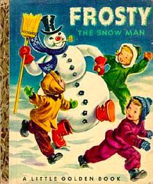 vintag, books, memori, snowman, childhood, golden book, children book, christma, frosti