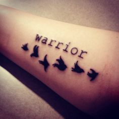 I'm going to get this tattoo when I'm older because I have overcome my self harm and am a warrior