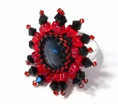 Free Snake Eye Ring Tutorial featured in Bead-Patterns.com Newsletter!