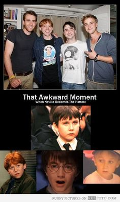 neville longbottom now and then   ... then and now show that awkward moment when Neville becomes the hottest