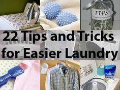 22 Tips and Tricks For Easier Laundry!