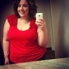 {Red Ruffled Beauty} REAL Curvy Girl inspiration from Jessica Kane, her blog: Life and Style of Jessica Kane