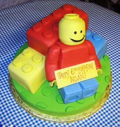 Lego & Lego Man Cake lego cake, rice krispies, lego birthday, 2nd birthday, party cakes, little boys, parti, kid cakes, birthday cakes