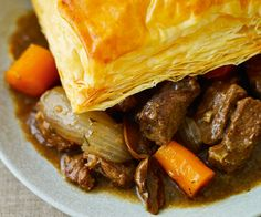 Beef, Guinness & Porcini Puff Pie by Lorraine Pascale