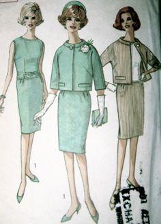 60s Vintage Slim Skirt Overblouse Jacket Simplicity by stumbleupon, $9.00