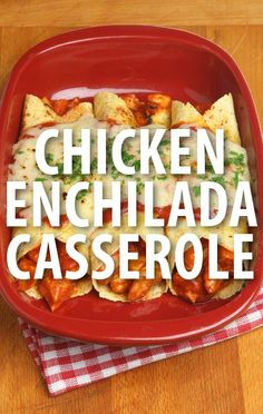 Try this Chicken Enchilada Casserole Recipe. Make a classic Mexican food-inspired meal that will feed the whole family for dinner, thanks to The Chew! http://www.recapo.com/the-chew/the-chew-recipes/chew-clinton-kelly-chicken-enchilada-casserole-recipe/