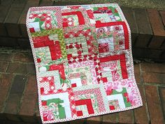 Wonky Log Cabin - Long Distance Quilting Bee