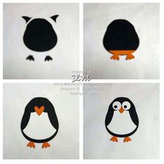 Penguin made from Stampin' Up owl punch