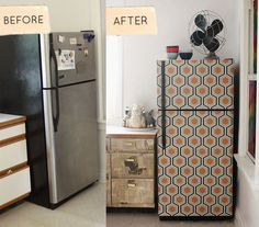 how to wallpaper your fridge