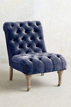 Gorgeous velvet slipper chair #anthroregistry http://rstyle.me/n/rv7bhnyg6