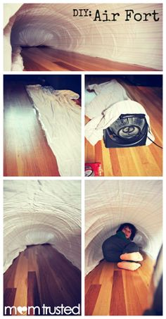 you only need a few simple things to make an Air Fort with your kids...so much fun!!