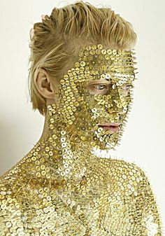 golden face