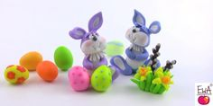 Inspirational Tips, Techniques & Tutorials: Cute Polymer Clay Easter Bunny Tutorial from Ewa