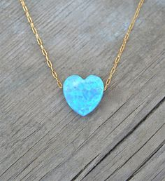 Heart Opal Necklace