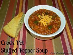 Pinspired Home: Crock Pot Stuffed Pepper Soup