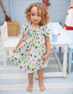 Pretty Printed Tea Dress - Mini Boden . Use Citronille Dorothee with smocking , maybe scoop the neckline some more