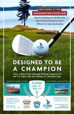Taking your family to the Washington State Fair? Do the Puyallup and come see historic moments of the U.S. Open and the making of Chambers Bay at Pierce County's new exhibit September 5th-21st located near the Blue Gate at the Washington State Fair.