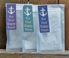 Anchor Wedding Tissues.