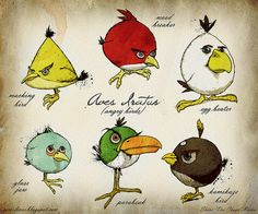 if darwin discovered the angry birds! #Angrybirds, #darwin
