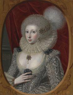 Robert Peake the Elder (1551-1619) —  Portrait of a Woman, Possibly Frances Cotton, Lady Montagu, of Boughton Castle, Northamptonshire, c. 1616  (4116x5007)