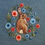 Tiny Embroidered Animals by Chloe Giordano