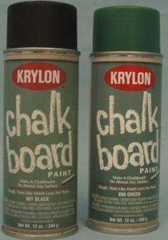 home++depot+chalk+paint | Chalkboard Paint Craft