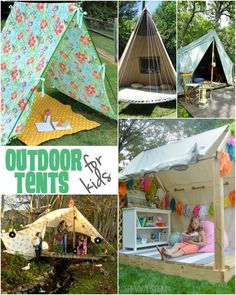 Fun and creative ideas to create your own outdoor tents for kids!