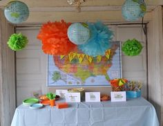 world traveler birthday party theme.