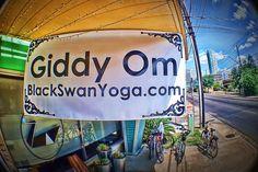 Get your Om on. Black Swan Yoga, Austin, Texas #sxsw