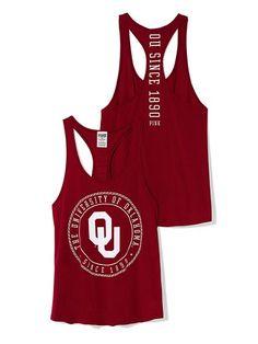 PINK University of Oklahoma Racerback Tank #VictoriasSecret http://www.victoriassecret.com/pink/university-of-oklahoma/university-of-oklahoma-racerback-tank-pink?ProductID=122484=OLS=true?cm_mmc=pinterest-_-product-_-x-_-x