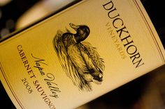 A stunning Cabernet from the Napa Valley, the 2008 Duckhorn was one of most favorite wines from the 2011 season. (November 3, 2011, Concord, CA)