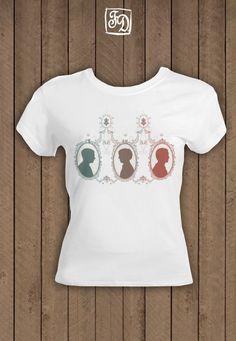 Sherlock Holmes BBC Cameo T-Shirt by FeerieDoll via Etsy. ~Sherlock, John & Moriarty~