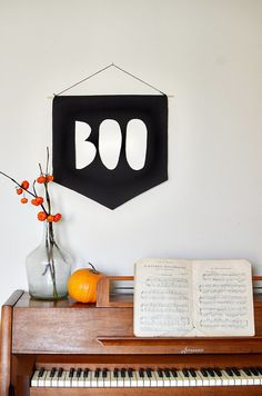 Create a fabric banner to hang in your entry.