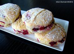 Mia's Domain | Real Food: Raspberry Stuffed Lemon Scones