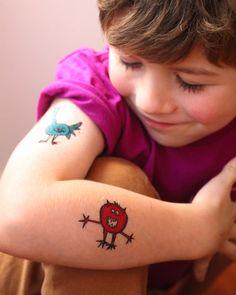 "Temporary tattoos from the Monster ""Say Roar!"" Caravan Shoppe Kit."