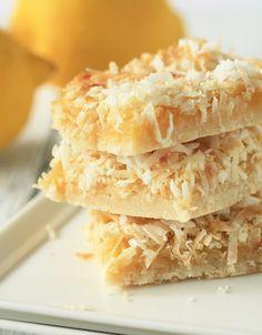 Coconut Lemon Bars - fresh dessert perfect for any occasion,,..