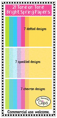 21 Tone on Tone Bright Spring Papers $  http://www.teacherspayteachers.com/Product/Tone-on-Tone-Bright-Spring-Papers-1177765