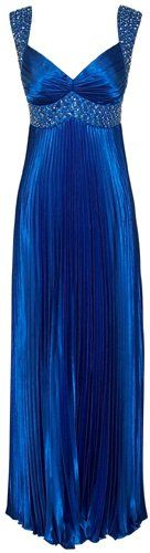 Beaded Pleated Satin Prom Dress Bridesmaid Formal Gown $142.99