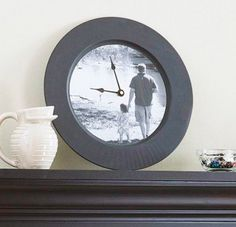 father's day idea: picture in a clock
