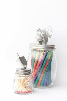 Match-strike jar and pretty candle jar DIY