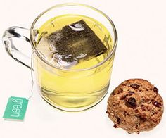 Low-Cal Snack: Green Tea with Cookie