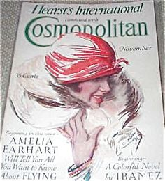 $76 COMPLETE ISSUE OF COSMOPOLITAN MAGAZINE FOR 11/1928. Cosmo COVER BY HARRISON FISHER. ERTE AND CHARLES DANA GIBSON ALSO CONTIBUTE TO THIS ISSUE. NEAR FINE CONDITION.