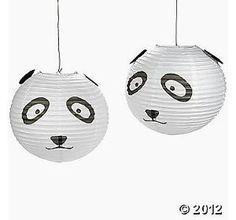 Panda Party Lanterns panda lantern, birthday parti, parties, panda party theme, lanterns, parti idea, panda parti, pandas, parti lantern