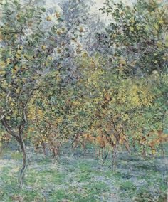 Under the Lemon Trees by Claude Monet