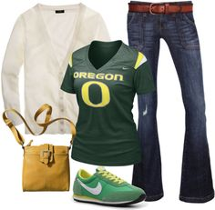 Oregon Game day fashion #GoDucks